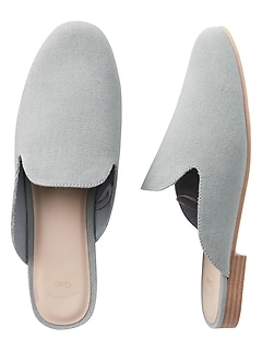 Loafer Mules in Denim