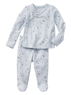 First Favorites Starry Long Sleeve Kimono Set