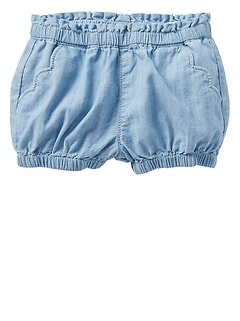 Chambray Bubble Shorts