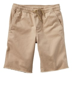 "8"" Raw-Hem Pull-On Shorts"