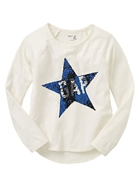 Flippy sequin long-sleeve tee