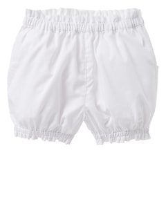 Scalloped Poplin Bubble Shorts