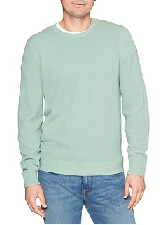 Lightweight Textured Crewneck Sweater