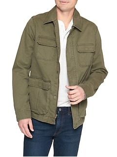 Military Jacket in Twill