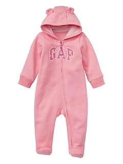 Baby Bear Gap Logo Footed One-Piece