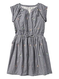 Gingham Short-Sleeve Dress
