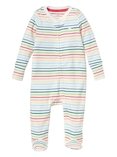 Baby Favorite Print Footed Zip One-Piece