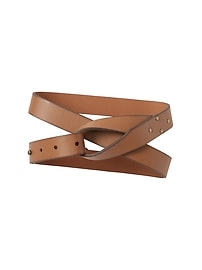 Wrap Belt in Faux-Leather