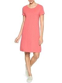 Twist-Back T-Shirt Dress in Slub