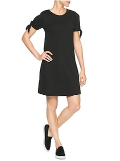 Open-Sleeve Swing Dress in Jersey