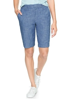 "10"" Chambray Bermuda Shorts"