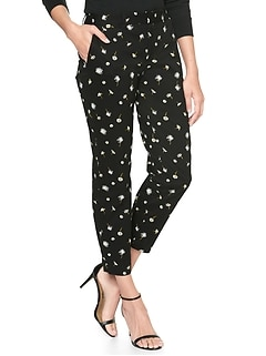 Print Slim City Crop Pant