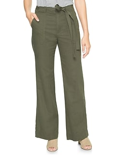 Wide Leg Pants in Linen-Cotton