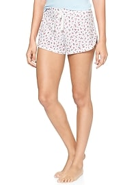 Knit Printed Sleep Short