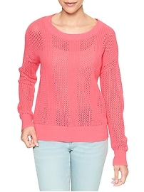 Long-Sleeve Textured-Knit Sweater