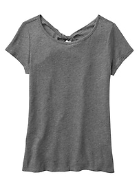 Twist-back Tee in Jersey Knit
