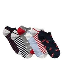 Mix-Print Ankle Socks (6-Pack)