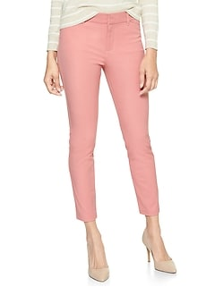 Cropped Slim City Pant in Bi-Stretch