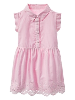 Eyelet Shirt Dress