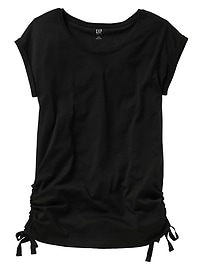 Maternity Keyhole Ruched T-Shirt