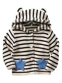 Stripe Star Garter Hoodie Cardigan
