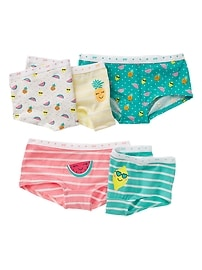 Fruit Print Girl Shorts (5-Pack)