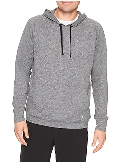 Marled Pullover Hoodie in Jersey