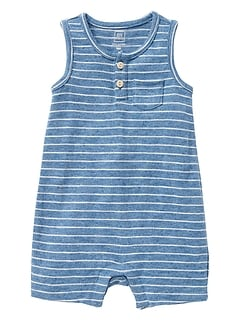 Stripe Tank Shorty One-Piece