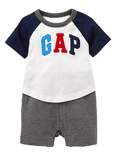 Logo Raglan 2-in-1 One-Piece