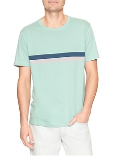 Everyday Chest-Stripe T-Shirt in Jersey