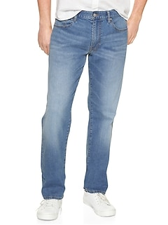 Wearlight Jeans in Straight Fit with GapFlex