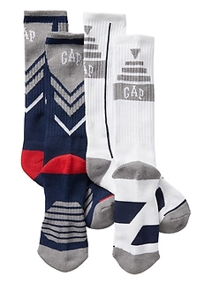 Coolmax® Athletic Crew Socks (2-Pack)