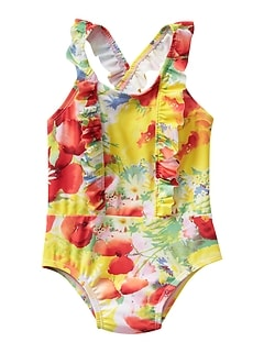 Floral Ruffle Swim One-Piece