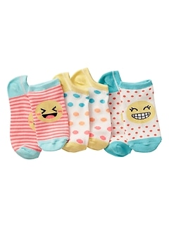 Emoji Ankle Socks (3-Pack)