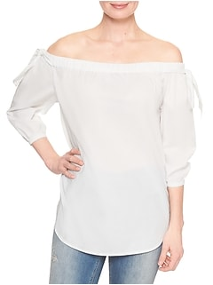 Tie Off-The-Shoulder Shirt