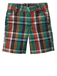 Plaid Shorts in Weave