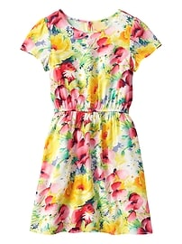 Print Short-Sleeve Dress