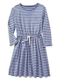 Long-Sleeve Print Dress in Jersey Knit