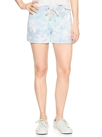 Tie-Dye Logo Shorts in French Terry