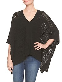 Crochet Open-Front Poncho