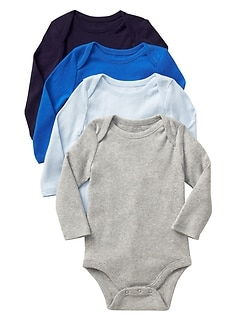 Long Sleeve Bodysuit (4-Pack)