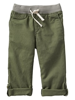 Pull-On Beach Pants in Linen-Cotton