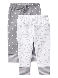 Print Pull-On Pants (2-Pack)