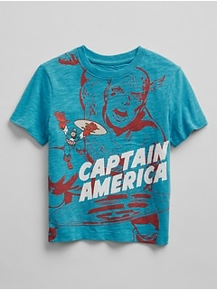 babyGap &#124 Marvel&#169 Capitan America T-Shirt in Slub