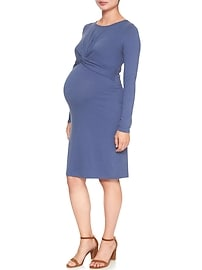 Maternity Pure Body Twist-Front Dress