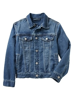 Kids Knit Denim Jacket