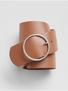 Wide Circle-Buckle Belt