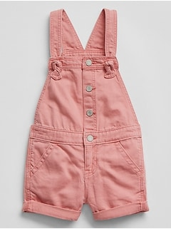 Snap-Front Short Overalls