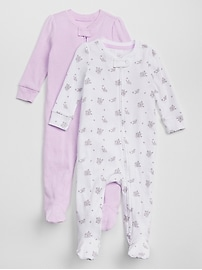 Favorite Dot Footed One-Piece (2-Pack)