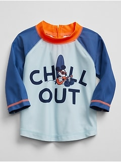 babyGap &#124 Disney Mickey Mouse Colorblock Half-Zip Rashguard
